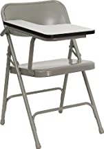 Flash Furniture Premium Steel Folding Chair with Right Handed Tablet Arm, 1 Pack