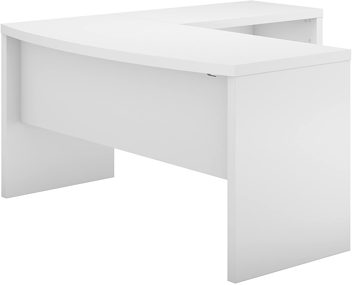 Bush Business Furniture Office by kathy ireland Echo L Shaped Bow Front Desk, Pure White