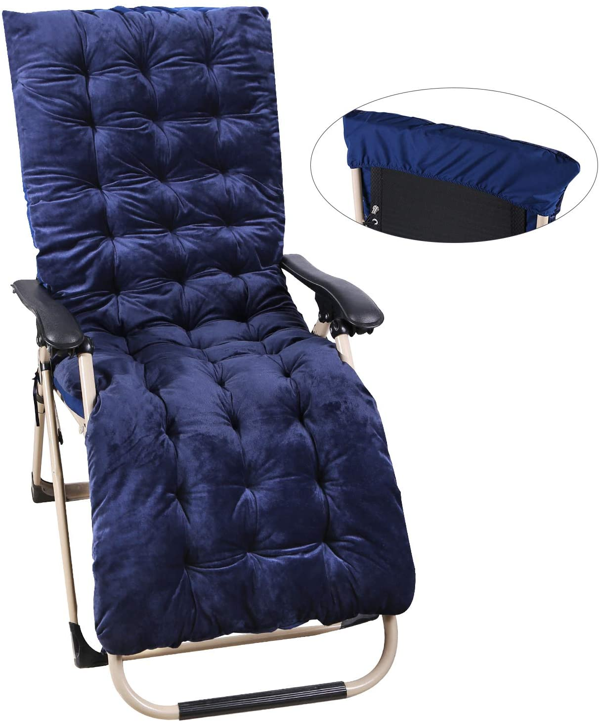 REDCAMP Chaise Lounge Cushion for Patio Furniture, 4