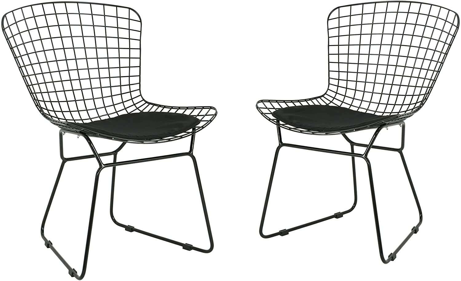 Christopher Knight Home 305072 Fonda Outdoor Iron Chairs (Set of 2), Black