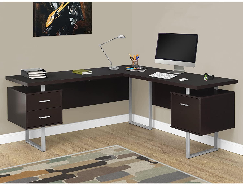 Monarch Specialties Computer Desk Left or Right Facing Capuccino 70