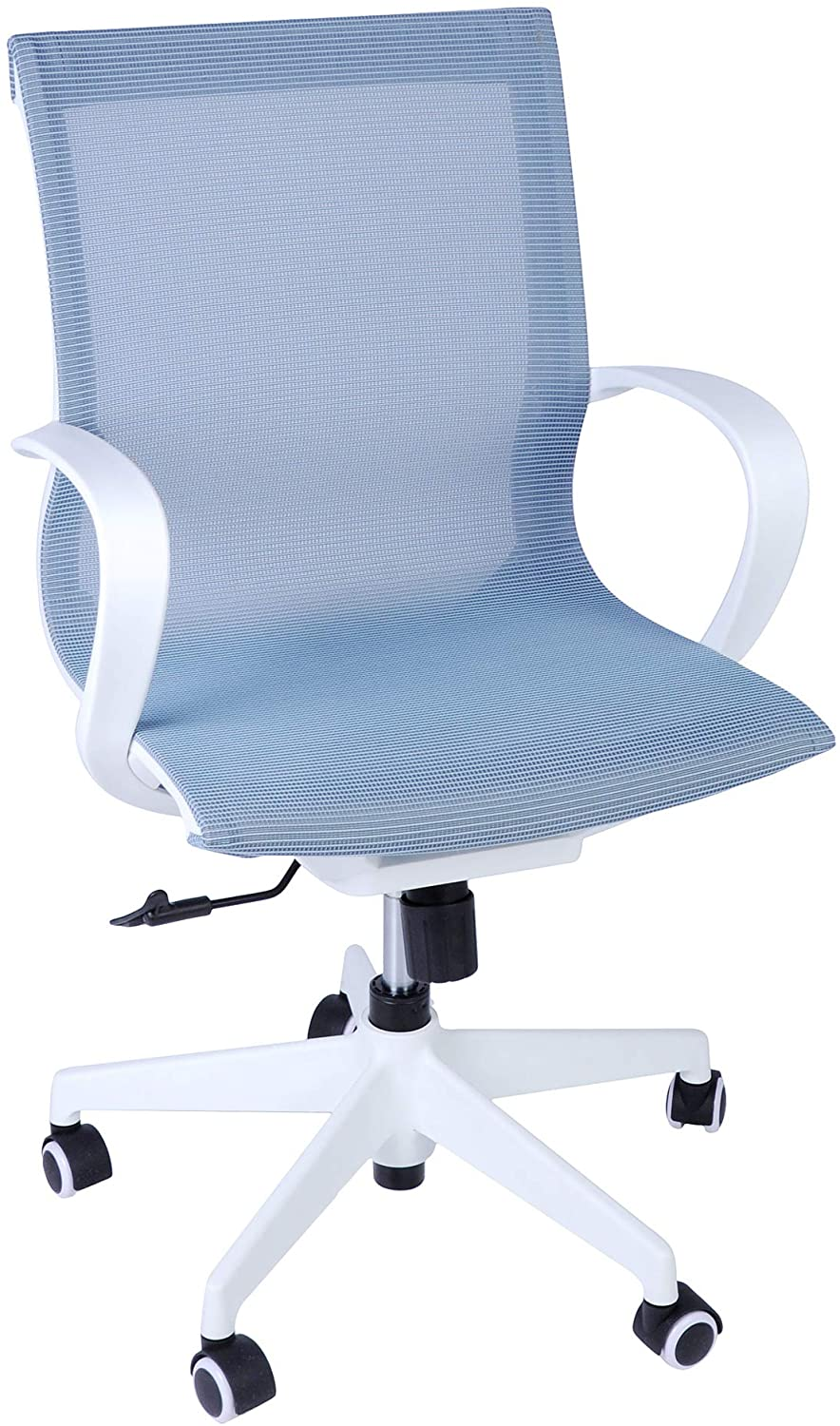 LUCKYERMORE Home Office Chair Swivel Task Chair 300Lb Capacity Heavy Duty Mesh Chair Breathable Back Seat Height Adjustable for Work Read Rest, Blue White