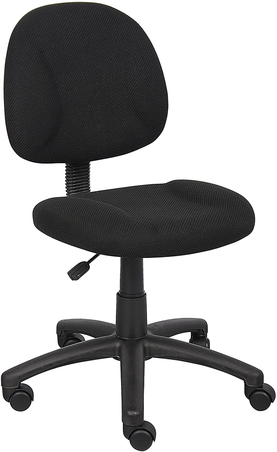 Boss Office Products Perfect Posture Deluxe Fabric Task Chair without Arms, Black