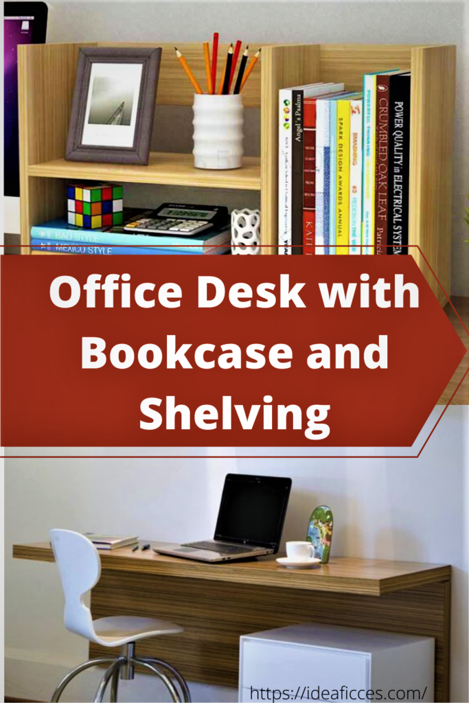 Working Efficiently – Office Desk with Bookcase and Shelving