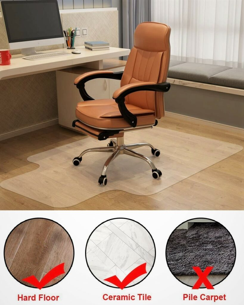 Azadx Home Office Chair Mat for Hard Surfaces