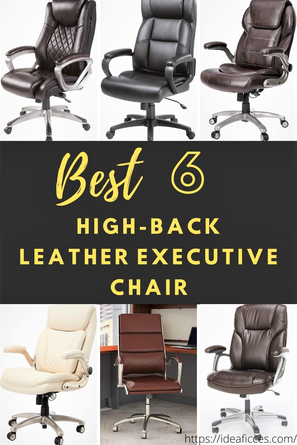 Best 6 High-Back Leather Executive Chair
