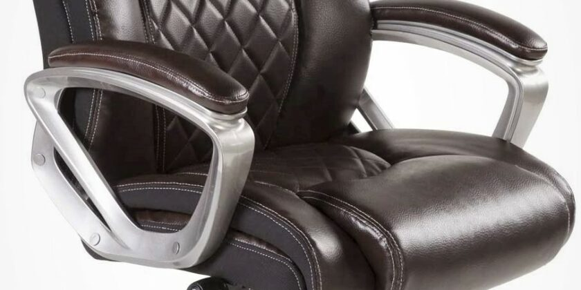 Bowthy Ergonomic Big and Tall Office Chair in Brown