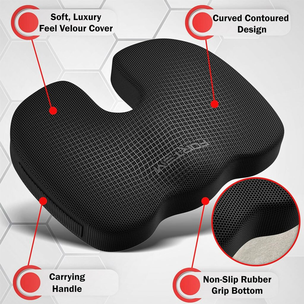 Fortem Lumbar Support and Seat Cushion for Computer Chair