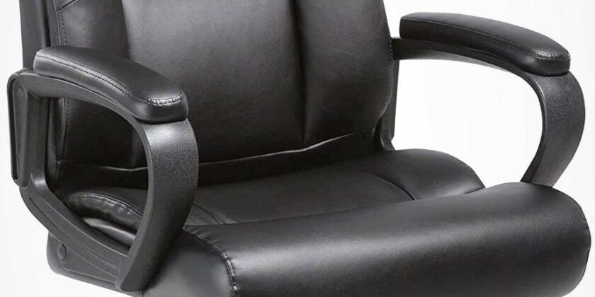 Lorell Soho Black High-Back Leather Executive Chair
