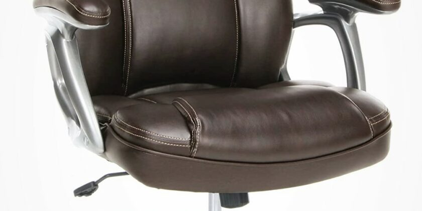 OFM Essentials ESS-6030-BRN High-Back Leather Executive Computer Chair