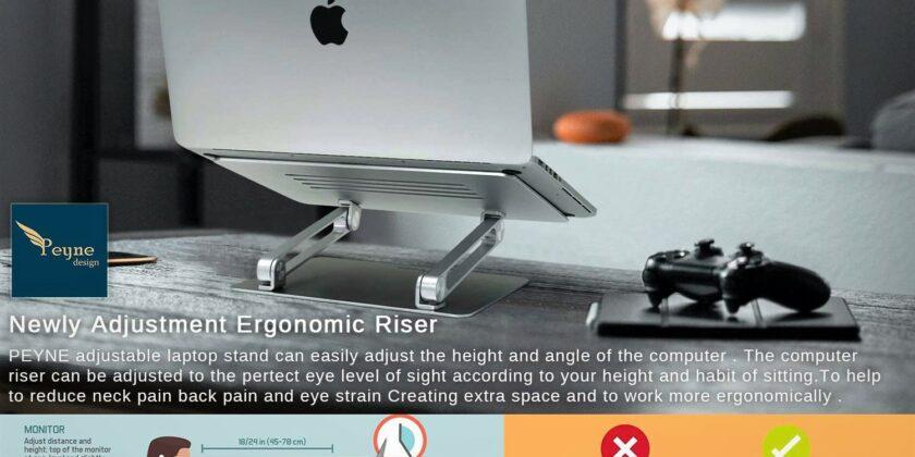 PEYNE Aluminum Adjustable Ergonomic Notebook Elevator