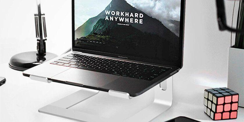 Soundance Aluminum Ergonomic Laptops Elevator for Desk with Metal Holder