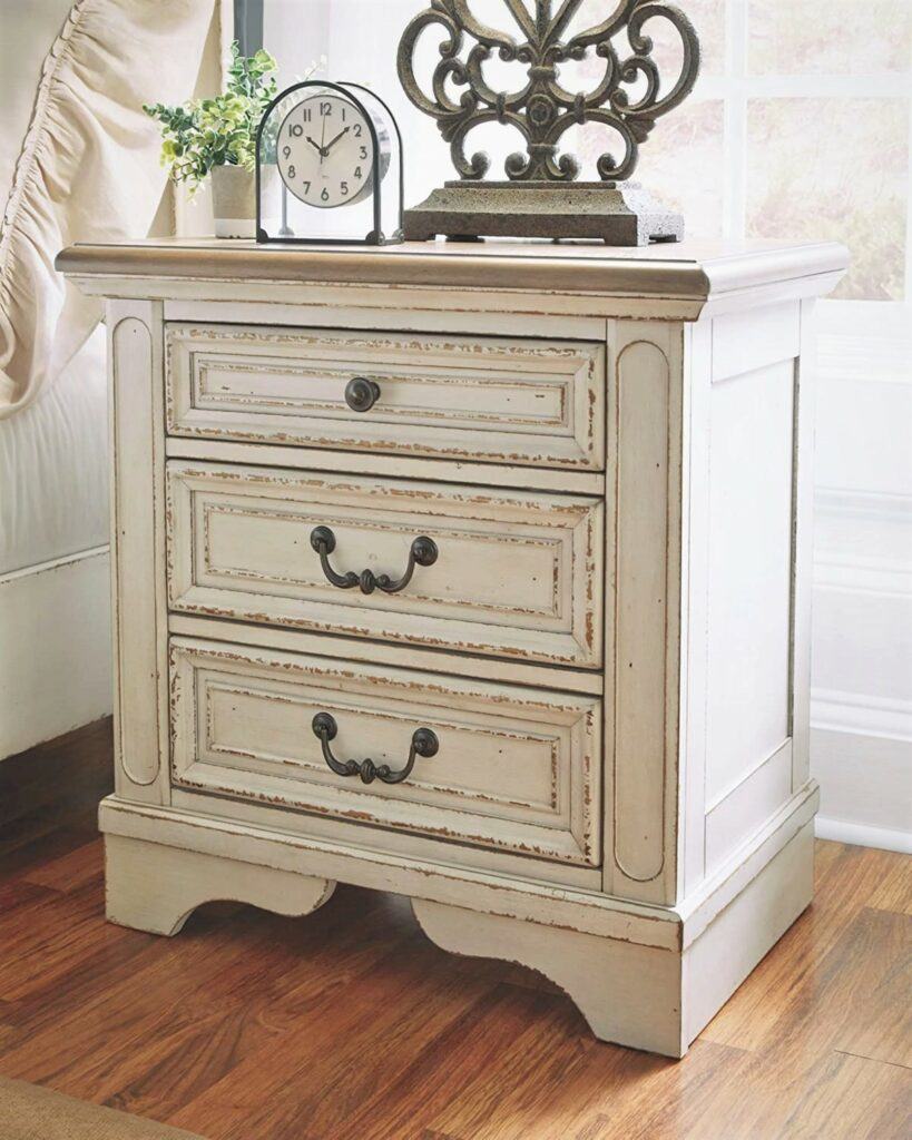 Ashley Realyn Chipped White Nightstand