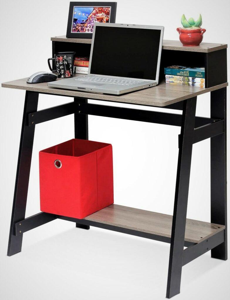 Furinno Simplistic Black Frame Home Office Computer Desk
