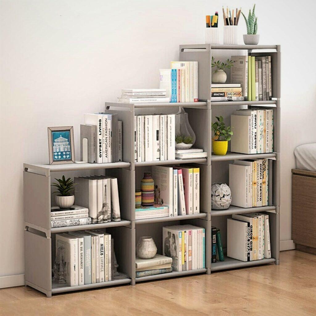 Jaketen Grey 9 Book Shelf Home Office Storage