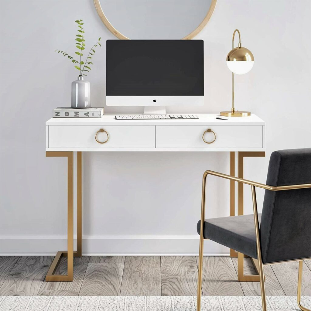 Nathan James 53301 Leighton Home Office Computer Desk