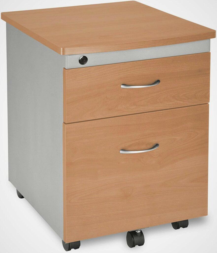 OFM Core Collection Modular Mobile 2 Drawer Pedestal File Cabinet