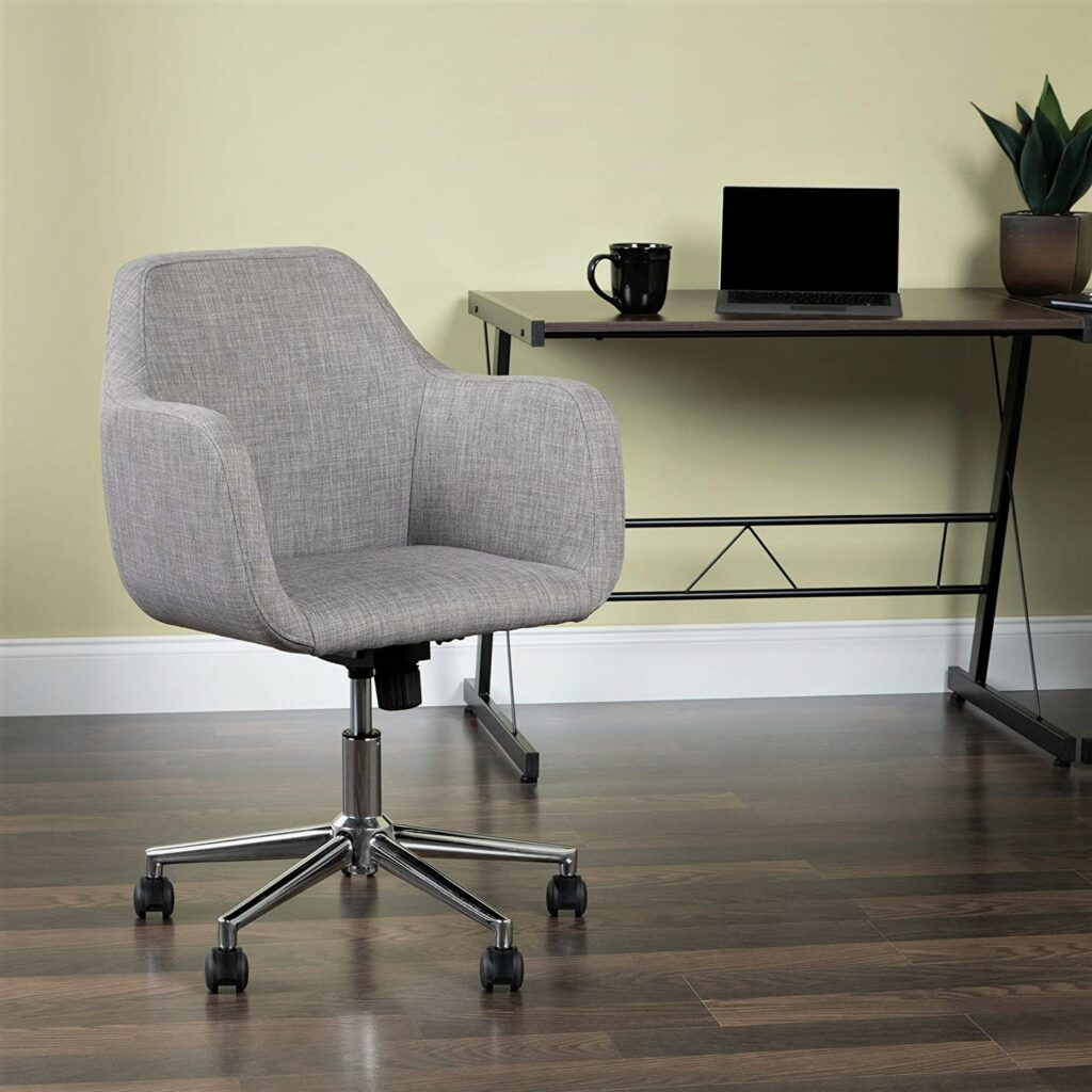 OFM Essentials Grey Upholstered Home Office Chair