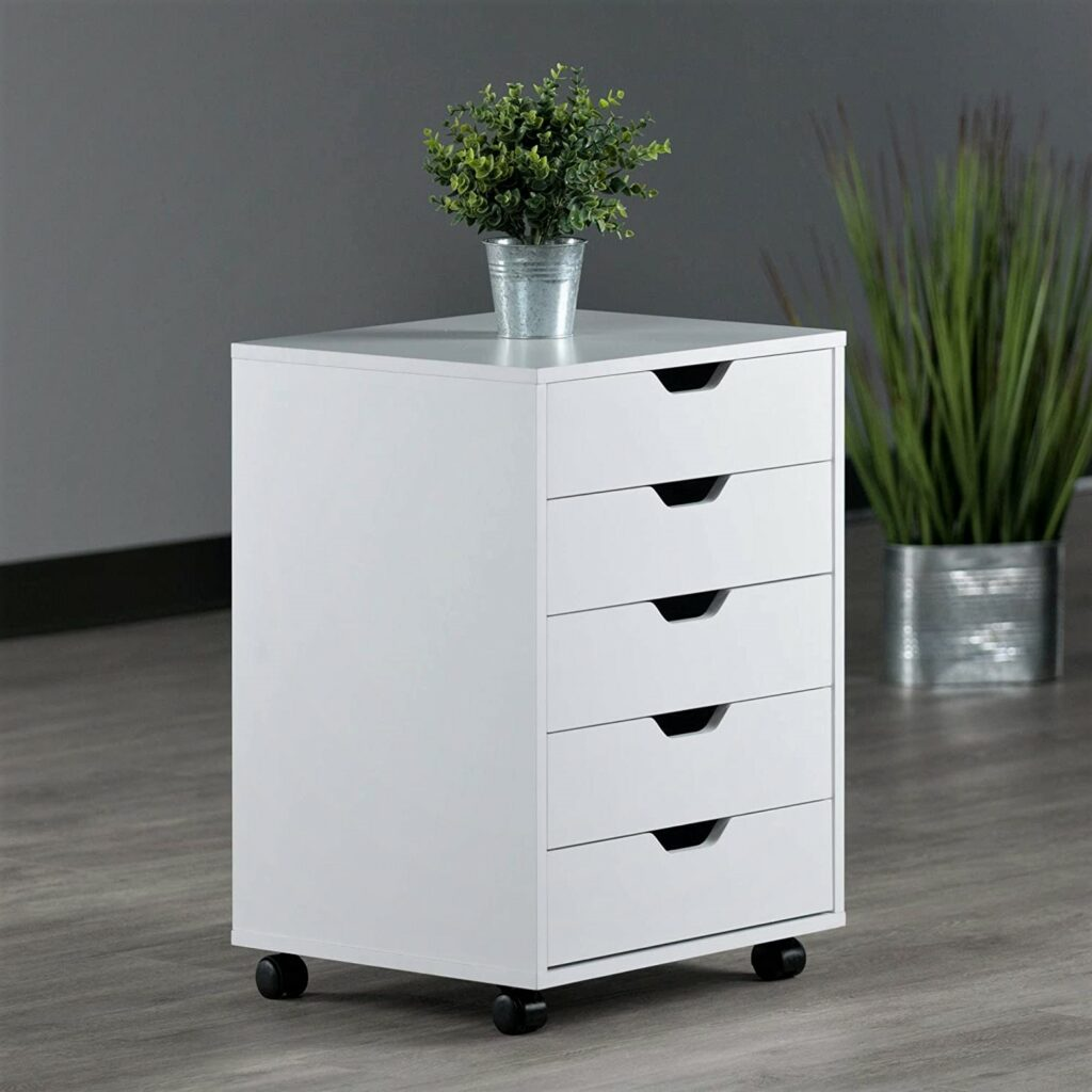 Winsome Halifax White Storage 5 drawer Organization